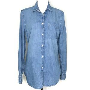 Gap Blue Denim Long Sleeve Button Up Shirt A030496